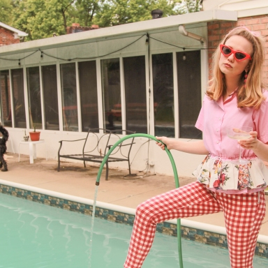domestic bliss, photoshoot, photography, housewife, housewife photoshoot, housewife editorial, summer, summer photoshoot, summer photography, pool, pool editorial, 50s housewife editorial, 50s housewife photoshoot, kitchy, cool, woman, girl, girl photoshoot, woman photoshoot